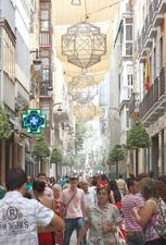Calle peatonal de tiendas