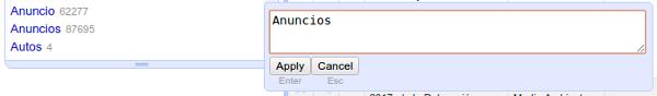 Editar texto desde una faceta en OpenRefine
