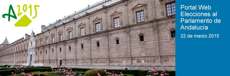 Web Elecciones al Parlamento de Andalucía 2015