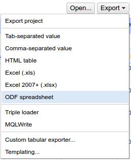 Exportar datos en OpenRefine