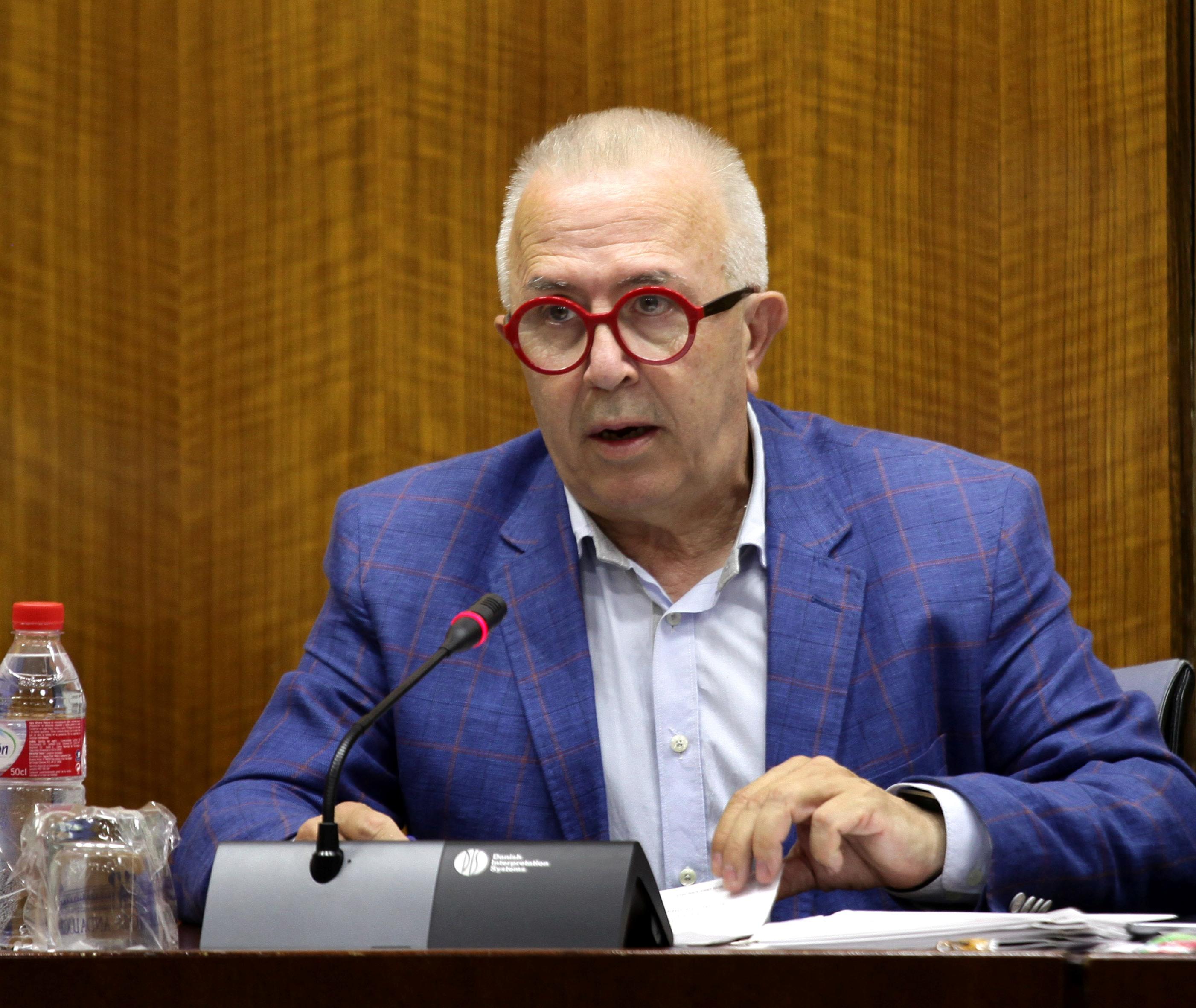 El consejero de Economía, José Sánchez Maldonado, en el Parlamento
