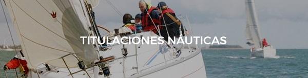 Cabecera identificativa de las titulaciones náuticas