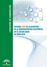Portada de la publicación Informe 2003 de la Situación de la Administración Electrónica en el Sector Local de Andalucía de la Consejería de Gobernación