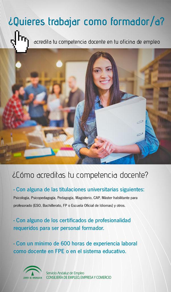 Infografía Ofertas de Empleo para personal formador de Escuelas Taller y Talleres de Empleo