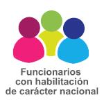 Logo de funcionarios con habilitación de carácter nacional