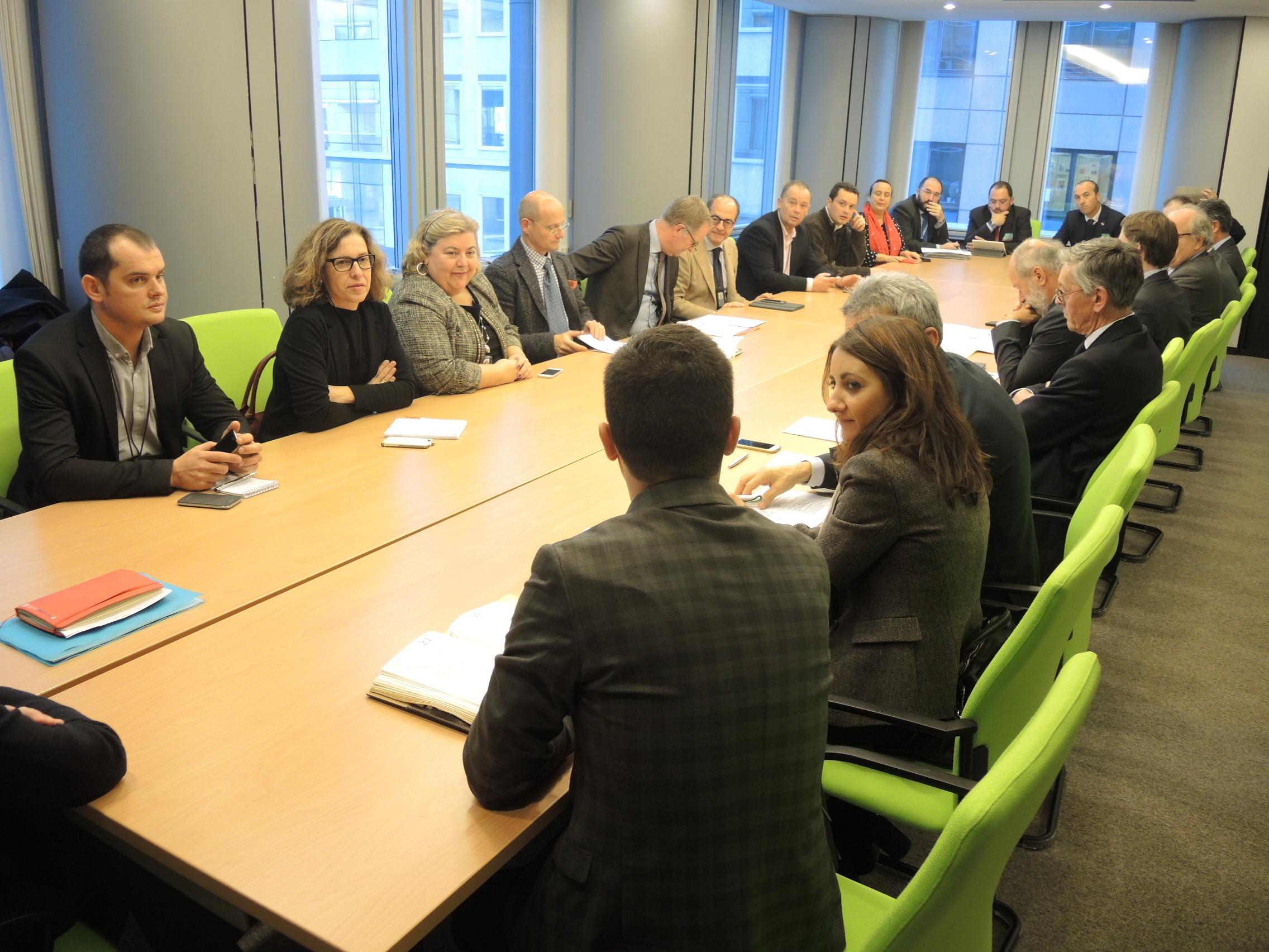 Un momento de la reunión en Bruselas