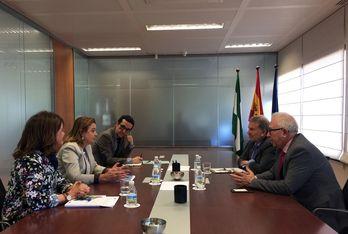 García-Escudero y Sánchez Maldonado durante la reunión