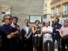 Momento de la inauguración de la señalización de los Refugios Antiaéreos de Almería
