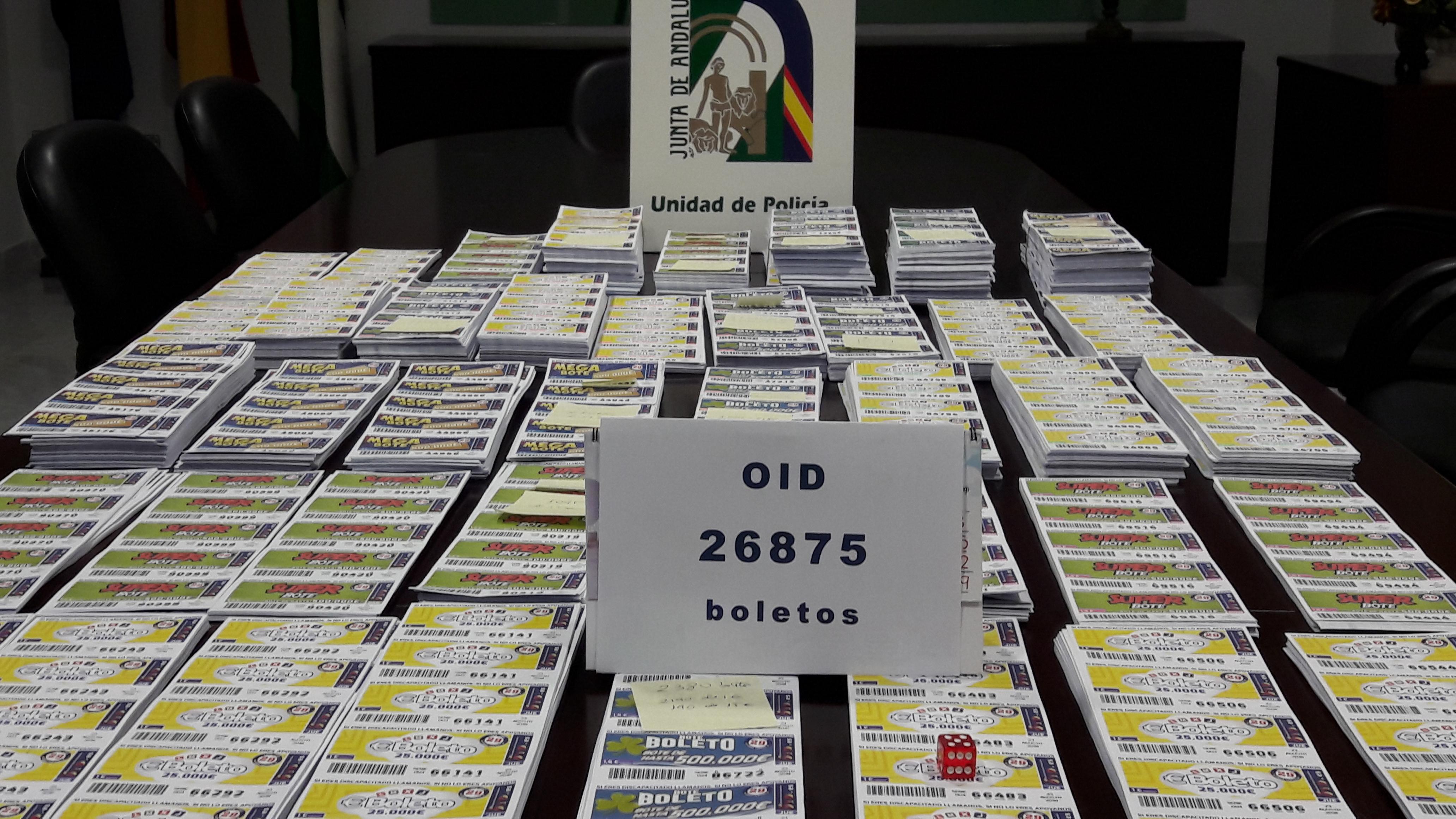 Decomiso de boletos ilegales en Cádiz