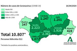 Junta de Andalucía - Comunicado Coronavirus 16 de abril 2020