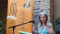 Patricia del Pozo en la presentación del festival Anfitrión en la Alcazaba de Almería