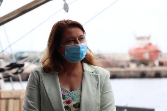 La consejera Carmen Crespo, durante la reciente visita al puerto de Motril