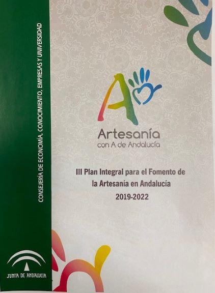 Portada: III Plan Integral para el Fomento de la Artesanía en Andalucía 2019 -2022