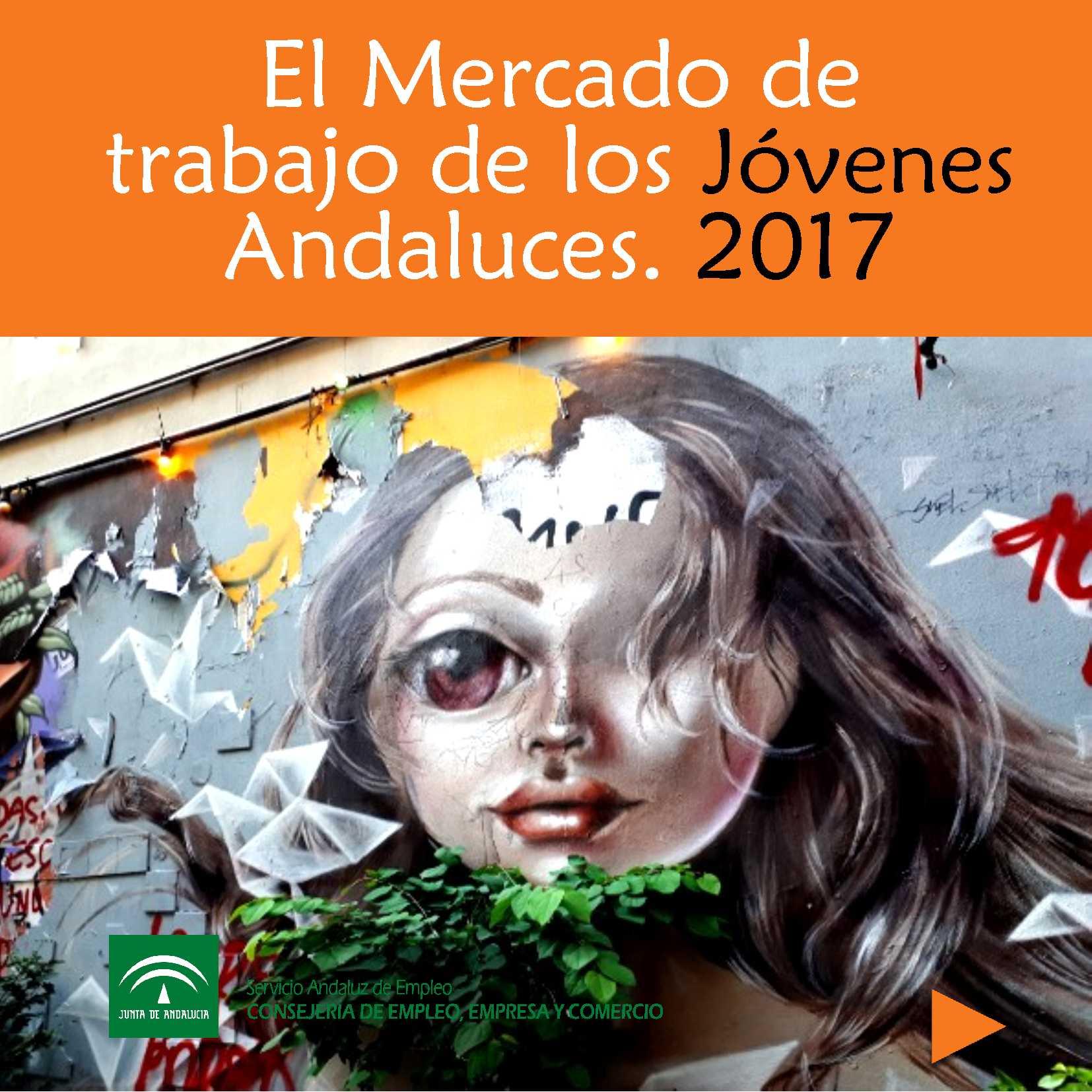 Portada del estudio del mercado de trabajo de los jóvenes andaluces. 2017