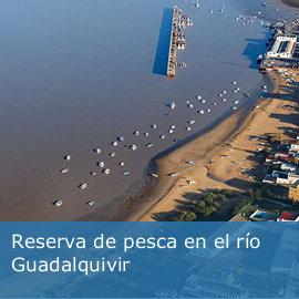 Reserva de pesca en el río Guadalquivir