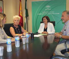 Sánchez Rubio se reúne con la Asociación de Esclerosis Lateral Amiotrófica para