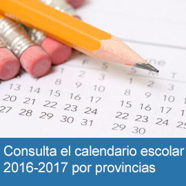Calendario Escolar 2016/7 por provincias