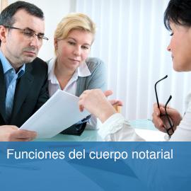Funciones del cuerpo notarial