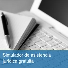 Simulador de asistencia jurídica gratuita