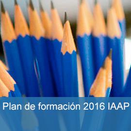 Plan de formación 2016 IAAP