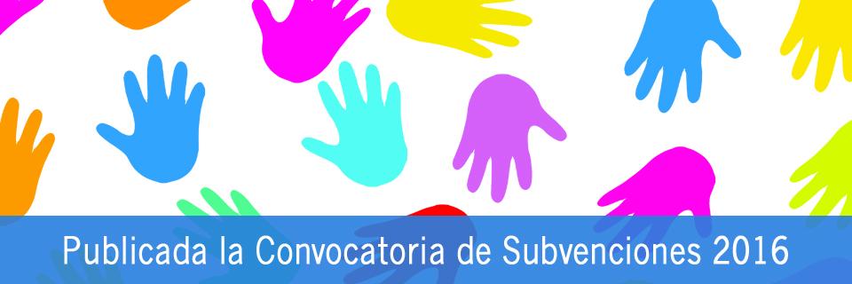 Publicada la Convocatoria de Subvenciones 2016