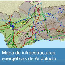 Mapa de infraestructuras energéticas de Andalucía