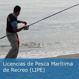 Licencias de Pesca Marítima de Recreo (LIPE)