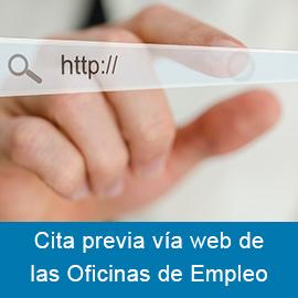 Cita previa vía web de las Oficinas de Empleo