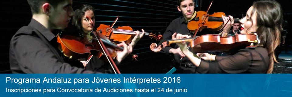 Programa Andaluz para Jóvenes Intérpretes 2016
