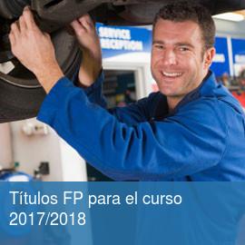 Títulos FP para el curso 2017/2018