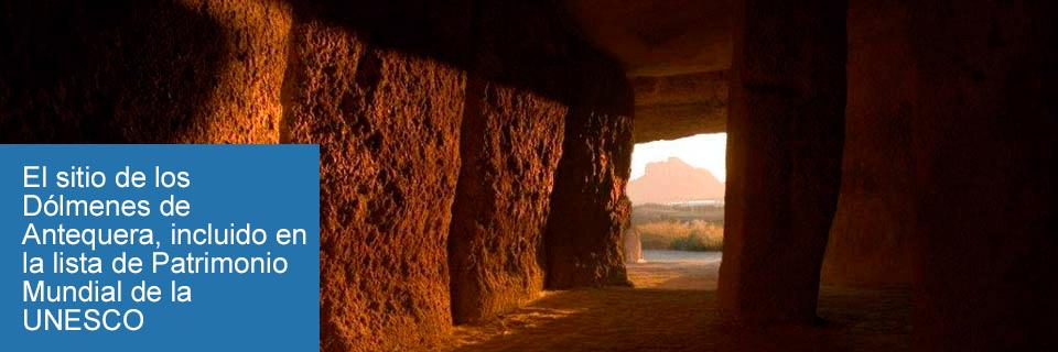 El sitio de los Dólmenes de Antequera, incluido en la lista de Patrimonio Mundial de la UNESCO