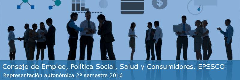 Representación autonómica directa en el Consejo de Empleo, Política Social, Sanidad y Consumidores, EPSSCO