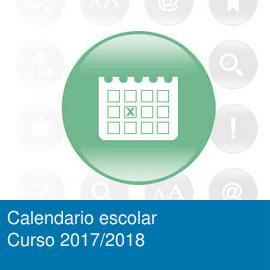 Calendario escolar. Curso 2017/2018