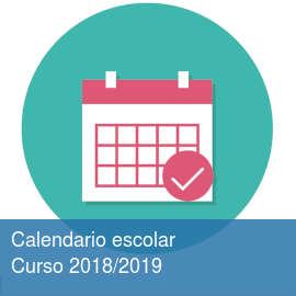 Calendario escolar. Curso 2018/2019