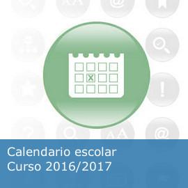 Calendario escolar. Curso 2016/2017
