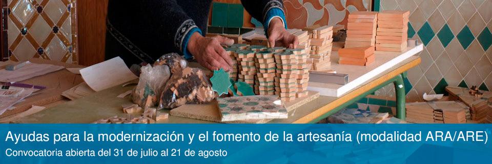 Subvenciones para la modernización y fomento de la artesanía (modalidad ARA/ARE)