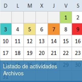 Listado de actividades