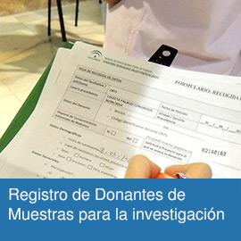 Registro de Donantes de Muestras para la investigación Biomédica