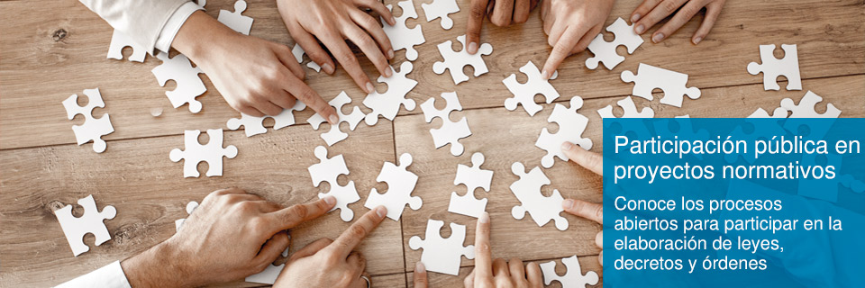 Participación pública en proyectos normativos