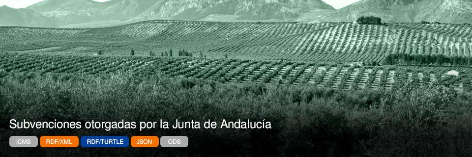 Subvenciones otorgadas por la Junta de Andalucía