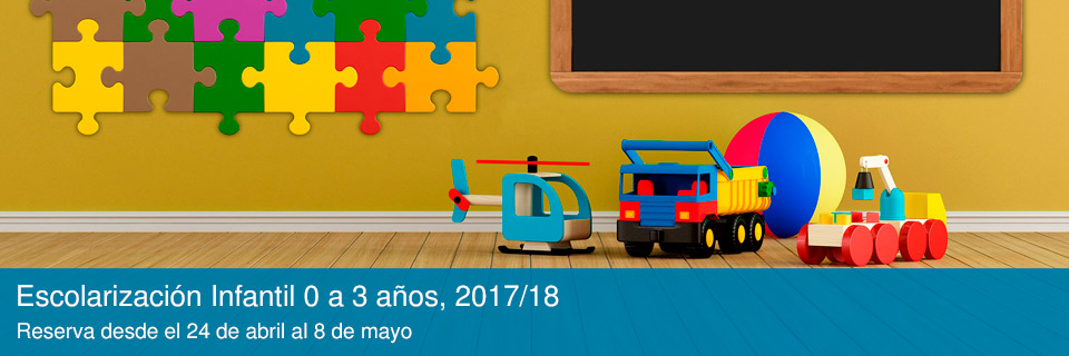 Escolarización Infantil 0 a 3 años, 2017/18