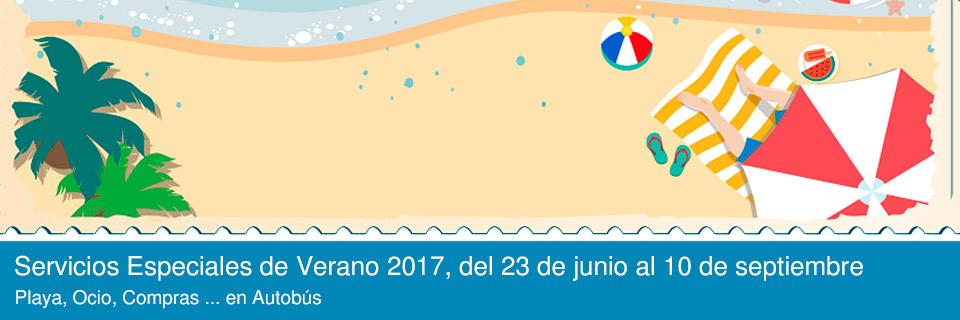 Servicios Especiales de Verano 2017, del 23 de junio al 10 de septiembre