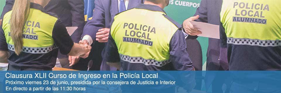 Clausura XLII Curso de Ingreso en la Policía Local