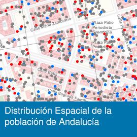 Distribución Espacial de la Población en Andalucía