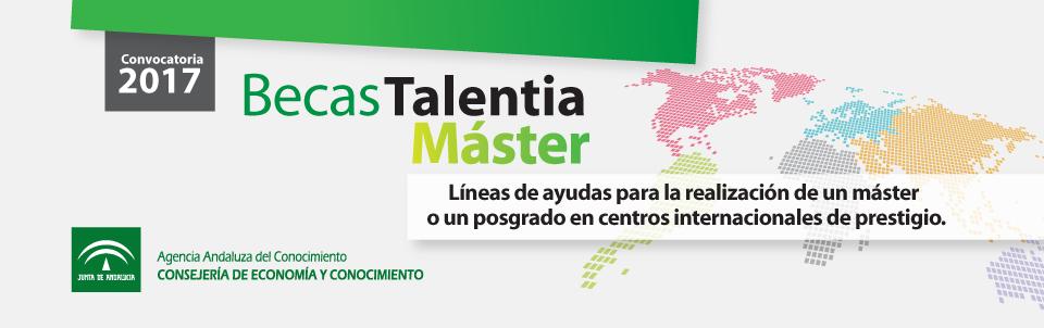 Becas Talentia Máster, convocatoria 2017