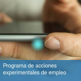 Programa de acciones experimentales de empleo