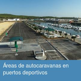 Áreas de autocaravanas en puertos deportivos