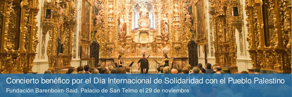 Concierto benéfico por el Día Internacional de Solidaridad con el Pueblo Palestino