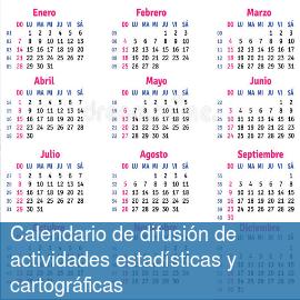 Calendario de difusión de actividades estadísticas y cartográficas