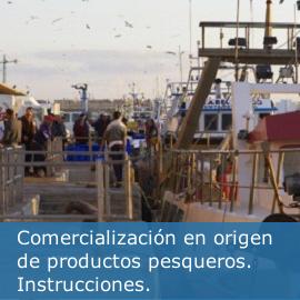 Instrucciones para la cumplimentación de documentos vinculados a la comercialización en origen de productos pesqueros
